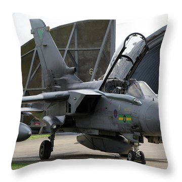 Throw Pillow featuring the photograph Raf Panavia Tornado Gr4 by Tim Beach
