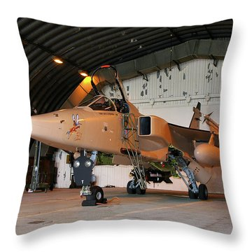Throw Pillow featuring the photograph Raf Sepecat Jaguar Gr3a by Tim Beach