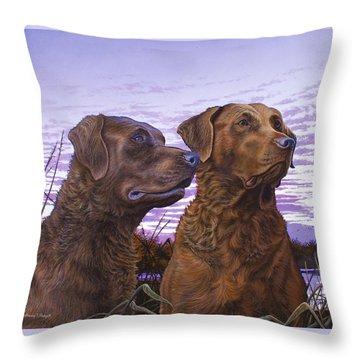 Ragen And Sady Throw Pillow