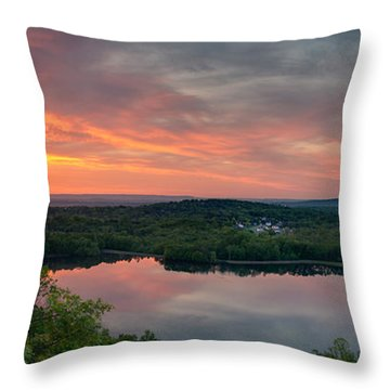 Ragged Mountain Sunrise Throw Pillow by Craig Szymanski