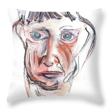 Raggedy Selfie Throw Pillow