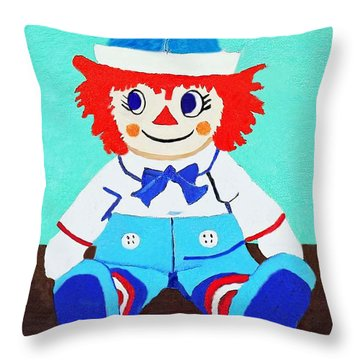 Raggy Andy II Throw Pillow