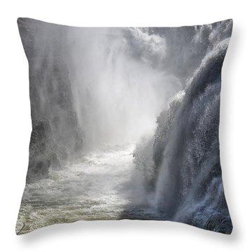 Raging Beauty Throw Pillow