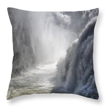 Raging Beauty Throw Pillow