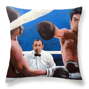Raging Bull Throw Pillow