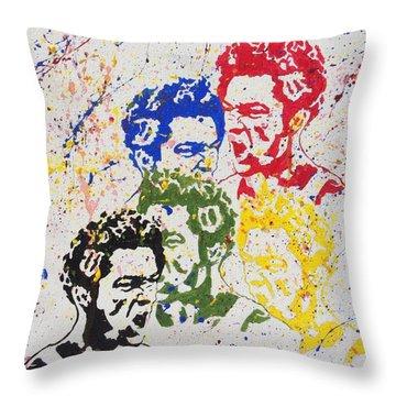 Raging De Niro Throw Pillow