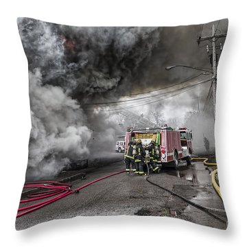 Raging Inferno Throw Pillow by Jim Lepard