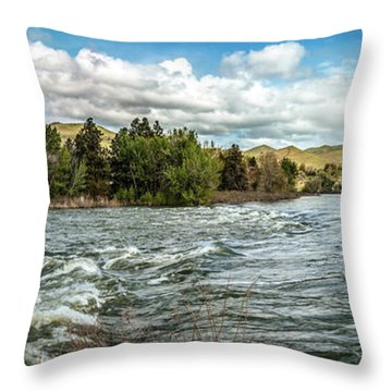 Raging Payette River Throw Pillow by Robert Bales