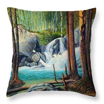 Raging Solitude Throw Pillow