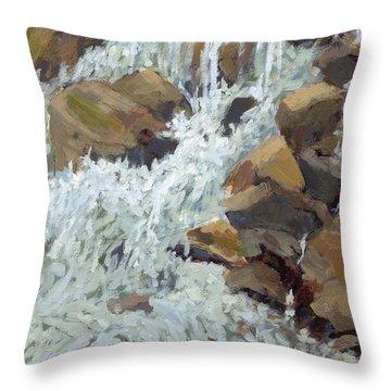 Raging Water Throw Pillow