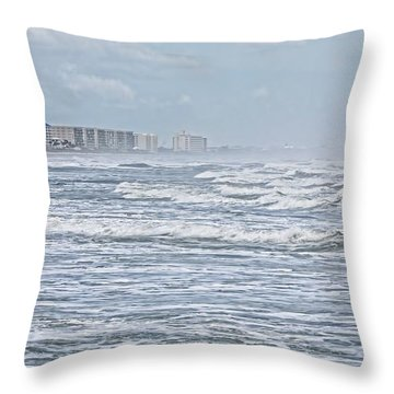 Raging Waters Throw Pillow by Deborah Benoit