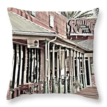 Ragtime At The Beach Throw Pillow