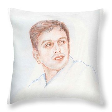 Rahul Dravid  Indian Cricketer Throw Pillow