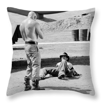 Throw Pillow featuring the photograph Raiders by Shelly Stallings
