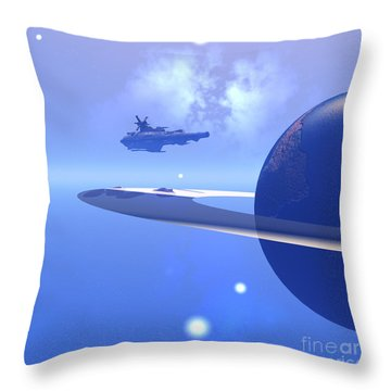 Raidor's Edge Throw Pillow by Corey Ford