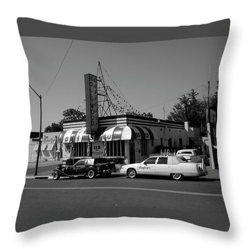 Throw Pillow featuring the photograph Raifords Disco Memphis A Bw by Mark Czerniec