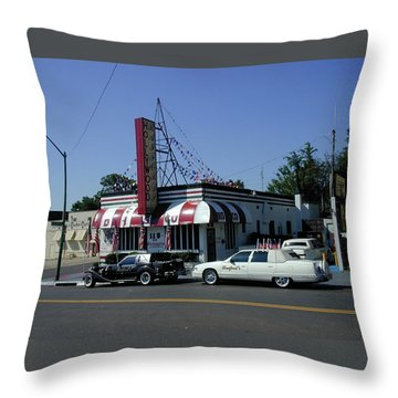 Throw Pillow featuring the photograph Raifords Disco Memphis A by Mark Czerniec