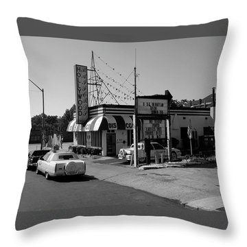 Throw Pillow featuring the photograph Raifords Disco Memphis B Bw by Mark Czerniec