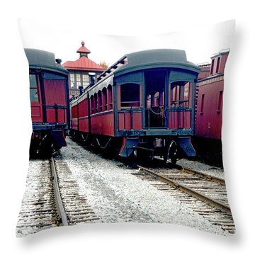 Throw Pillow featuring the photograph Rail Stock by Paul W Faust - Impressions of Light