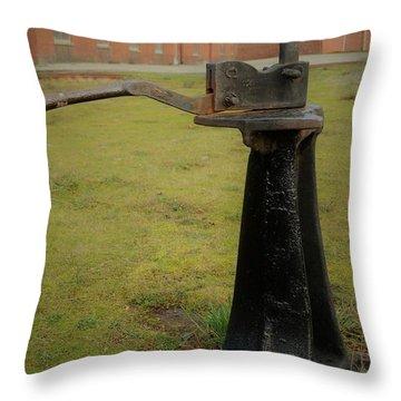 Rail Track Switch Throw Pillow