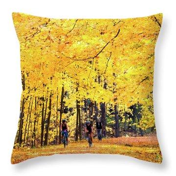Autumn Glory On The Rail Trail Throw Pillow