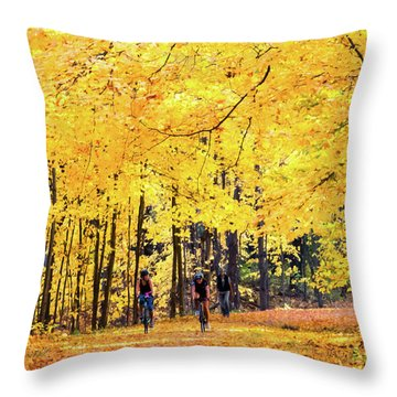 Autumn Glory On The Rail Trail Throw Pillow