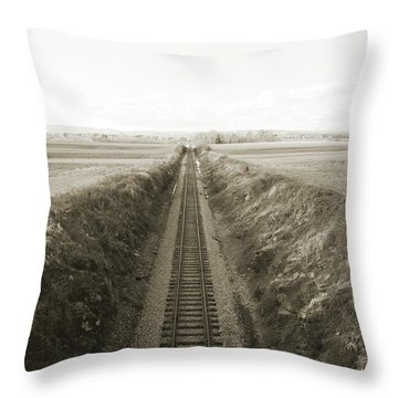 Railroad Cut, West Of Gettysburg Throw Pillow