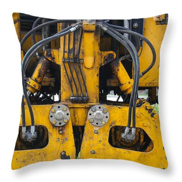 Railroad Equipment Throw Pillow