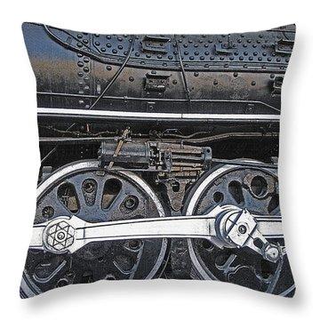 Railroad Museum 2 Throw Pillow by Steve Ohlsen