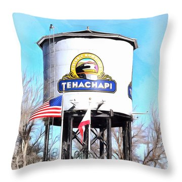 Throw Pillow featuring the photograph Railroad Park Tehachapi California Detail by Floyd Snyder
