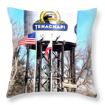 Throw Pillow featuring the photograph Railroad Park Tehachapi California by Floyd Snyder