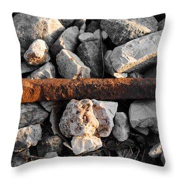 Railroad Spike Throw Pillow