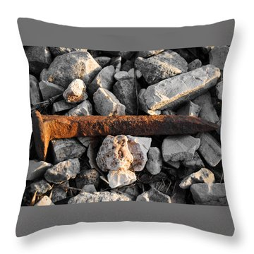 Railroad Spike Throw Pillow