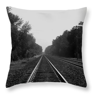 Railroad To Nowhere Throw Pillow by Trish Tritz