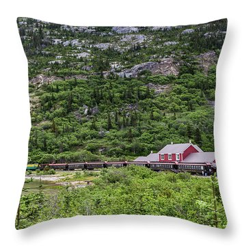 Throw Pillow featuring the photograph Railroad To The Yukon by Ed Clark