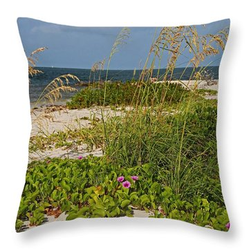 Railroad Vines On Boca Iv Throw Pillow