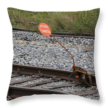 Railroad Work Limit Throw Pillow