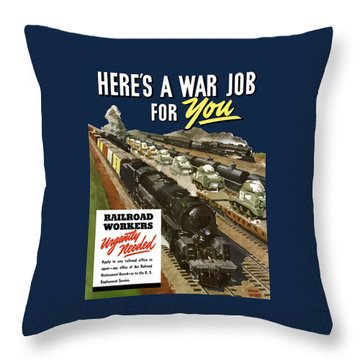 Railroad Workers Urgently Needed Throw Pillow