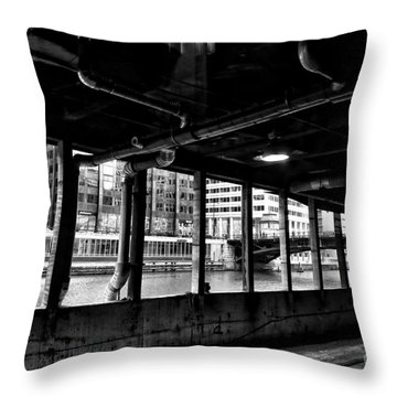 Rails And River Throw Pillow