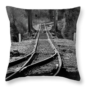 Throw Pillow featuring the photograph Rails by Douglas Stucky