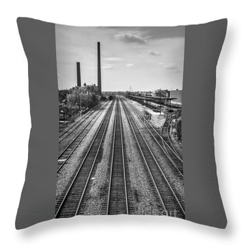 Rails Through Birmingham Throw Pillow