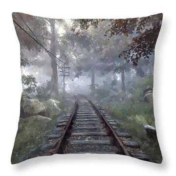 Rails To A Forgotten Place Throw Pillow