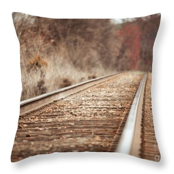 Throw Pillow featuring the photograph Rails by Todd Blanchard