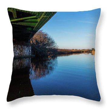 Railway Bridge Throw Pillow