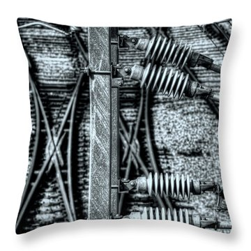 Throw Pillow featuring the photograph Railway Detail by Wayne Sherriff