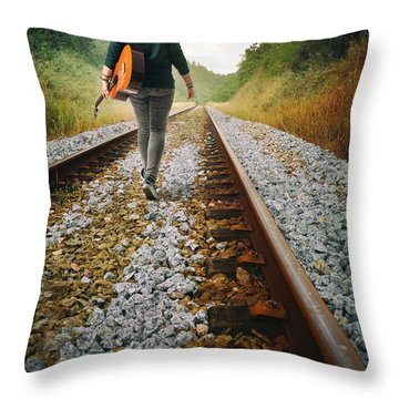 Railway Drifter Throw Pillow
