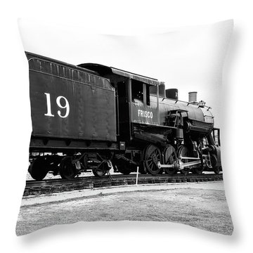 Railway Engine In Frisco Throw Pillow