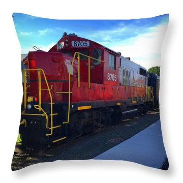 Blue Ridge Railway Throw Pillow