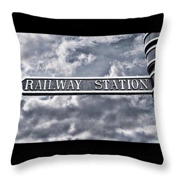Railway Station Throw Pillow