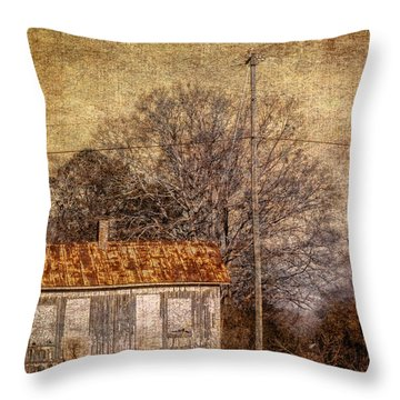 Railway Switching Station Throw Pillow by Phillip Burrow